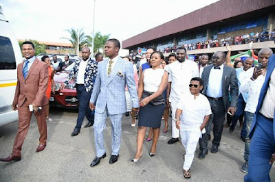 Osita Iheme Spotted in Malawi With Flamboyant Pastor Who Owns Private Jets (Photos)