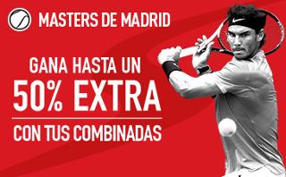 sportium extra combinadas Masters de Madrid 5-14 mayo