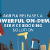 Agriya Releases its First and Foremost Service Booking Solution