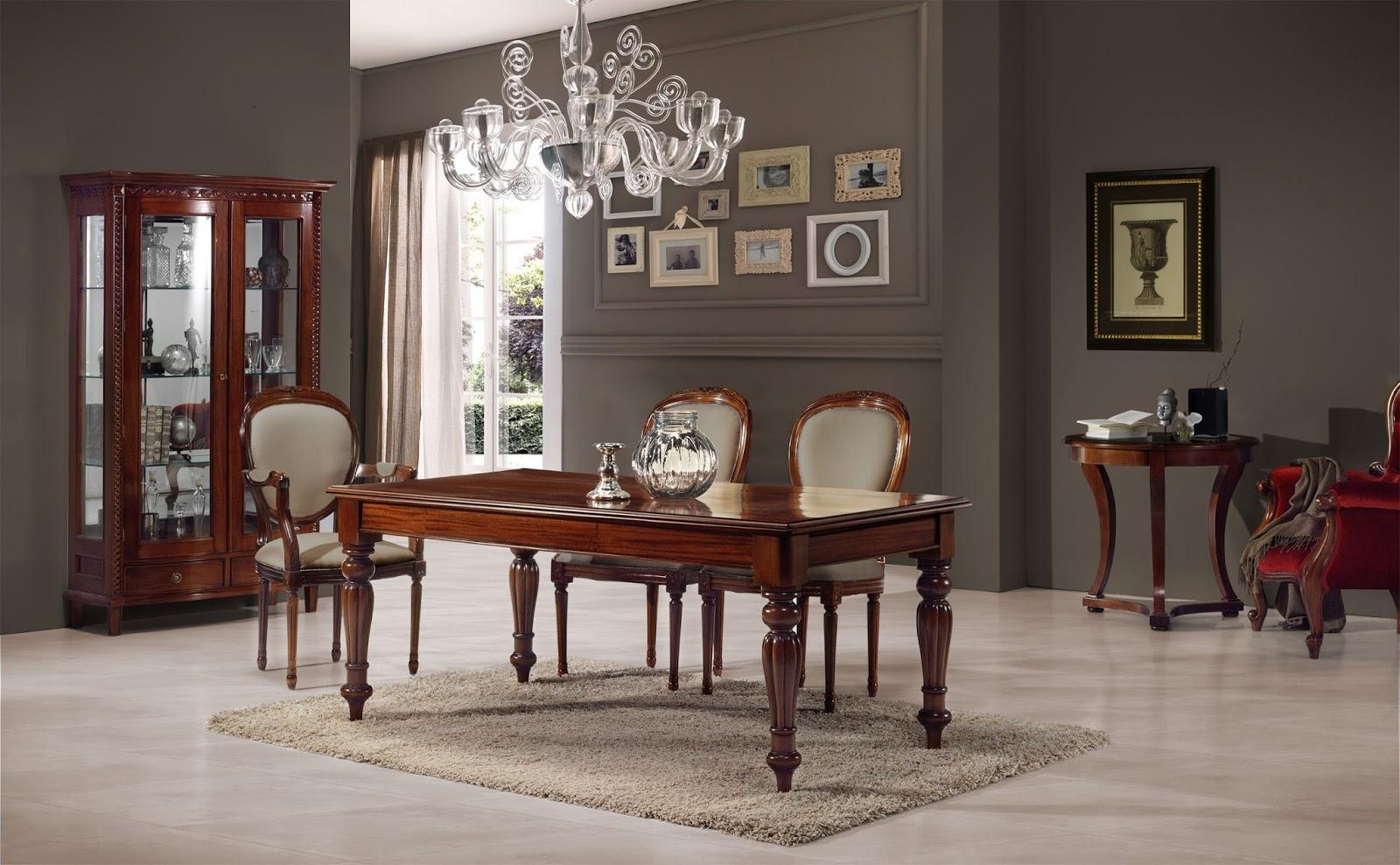 Muebles de comedor comedores clasicos ejemplo de elegancia for Comedores oscuros