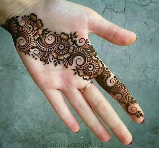 Girls are princes and simple mehandi design is perfect beauty tip for them.
