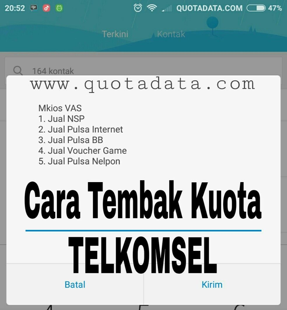 Cara Tembak Paket Internet Telkomsel Terbaru 2018 Quota Data Special Vocher 100rb M Kios