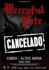 Mercyful Fate - Concerto em Portugal cancelado
