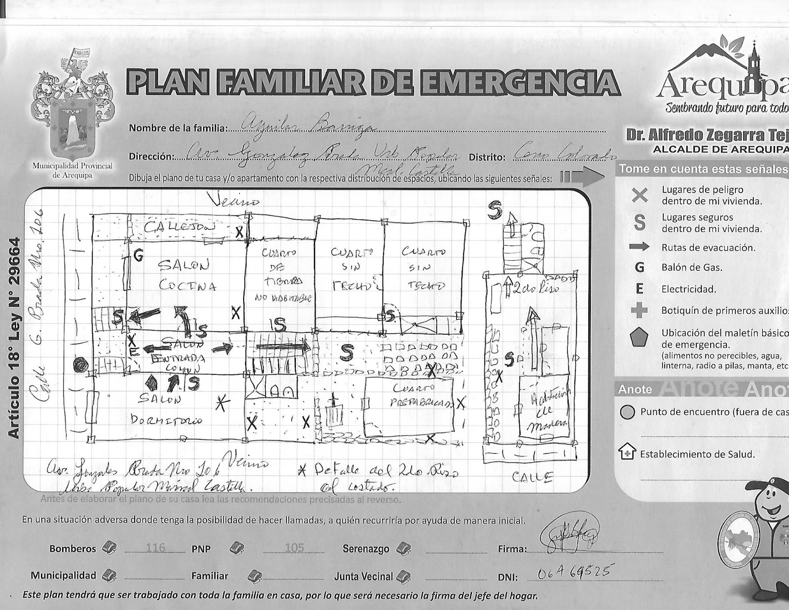 investigaciones geograficas aplicadas plan de emergencia familiar
