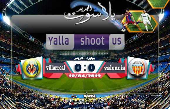 نتيجة مباراة فالنسيا وفياريال اليوم 18-04-2019 الدوري الأوروبي