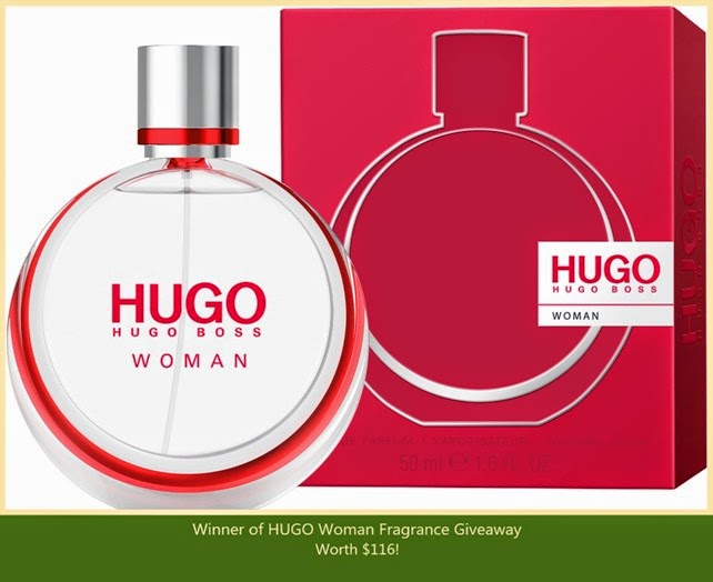 hugo woman eau de parfum giveaway winner