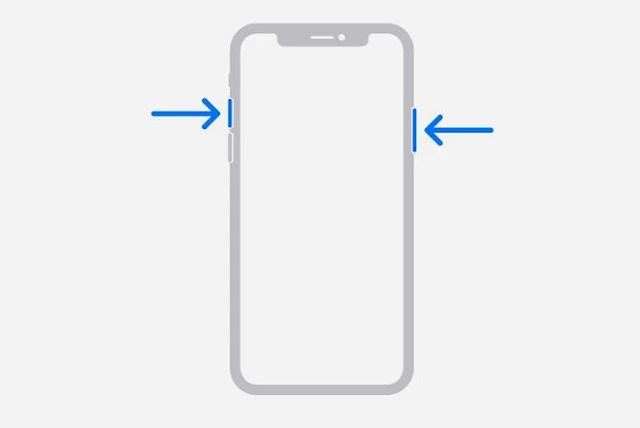 Cara Screenshot seri iPhone yang menggunakan Face ID
