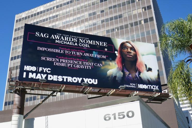 I May Destroy You SAG nominee billboard