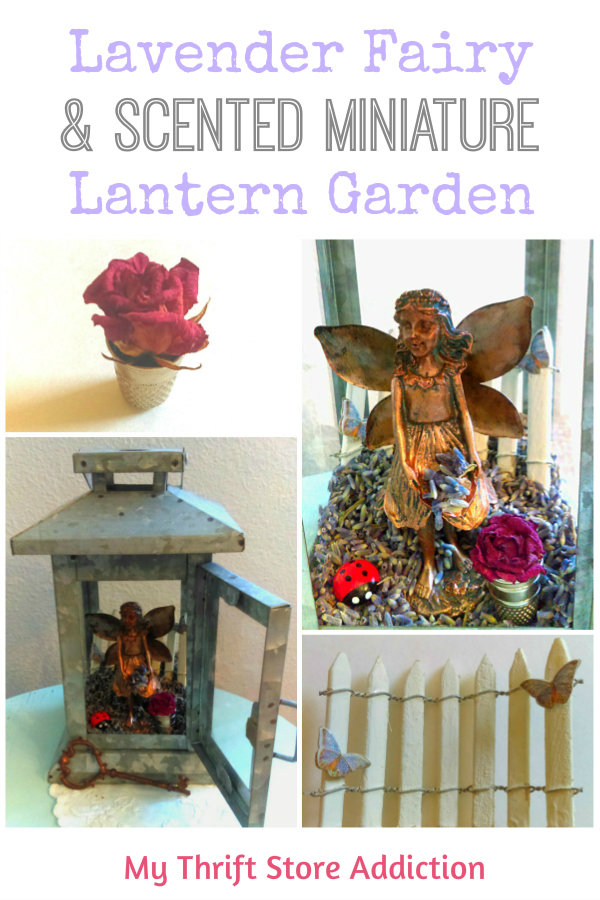 Detour to the Lavender Fairy and Scented Miniature Garden mythriftstoreaddiction.blogspot.com PIN: How to create a scented miniature lavender fairy garden