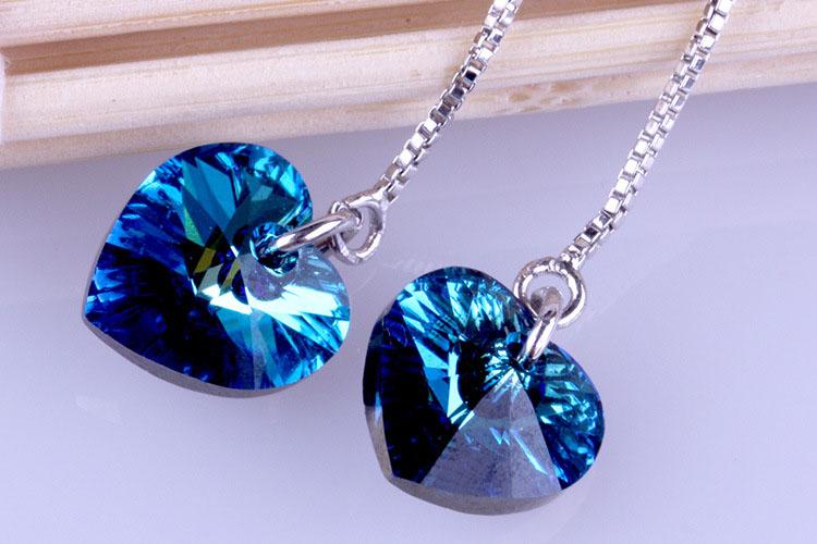 愛戀水晶 925純銀耳環