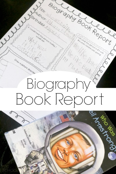 To summarize a recent biography about Neil Armstrong, I made up a simple biogrpahy book report for my son to fill out.  The Biography Book Report Printable can be used for any biography!
