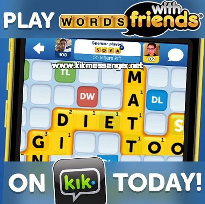 Juega Words With Friends con tus amigos en  Kik