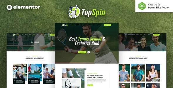 Best Tennis School & Sports Club Elementor Template Kit