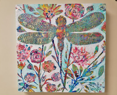colorful dragonfly painting
