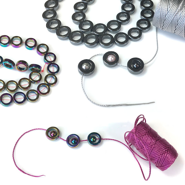 Hematite Rings Perfect Surrounds for 6mm Round Beads