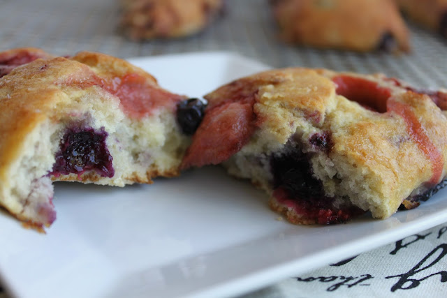 A Feast For The Eyes Mixed Berry Scones