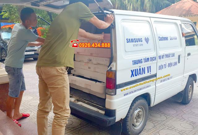 Hình ảnh xe ô tô chuyên dụng phục vụ sửa tivi tại nhà ở Thái Nguyên của trung tâm