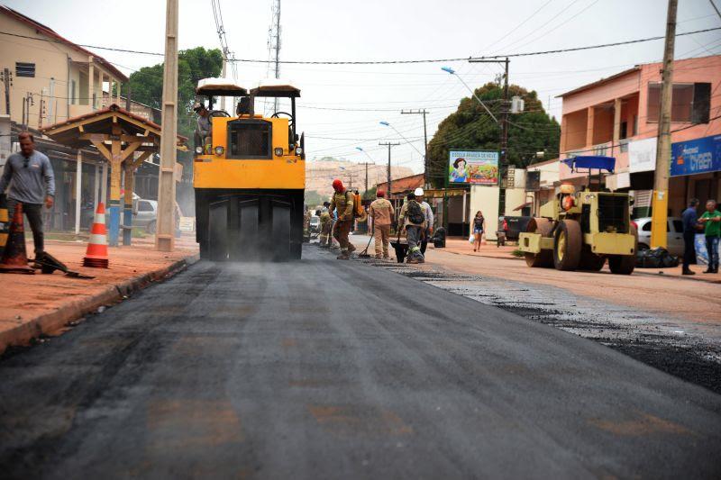 pavimentação em santarem pelo governo Nélio