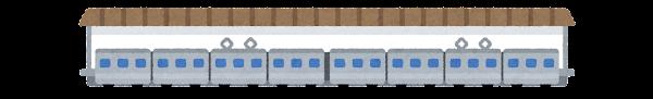 電車の切り離しのイラスト3