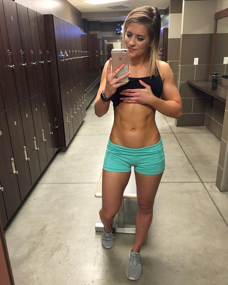 Whitney Simmons female Fitness 6
