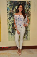 Actress Pragya Jaiswal Latest Pos in White Denim Jeans at Nakshatram Movie Teaser Launch  0068.JPG