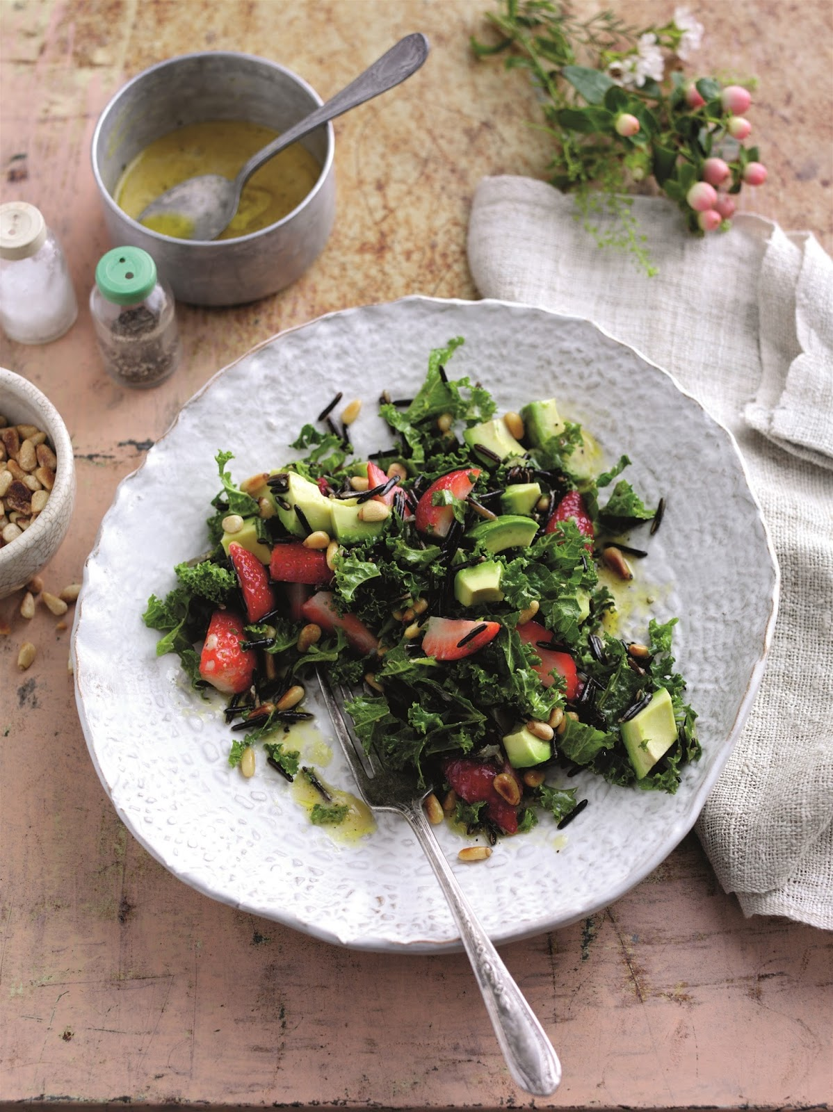 Superfood Strawberry And Pine Nut Salad