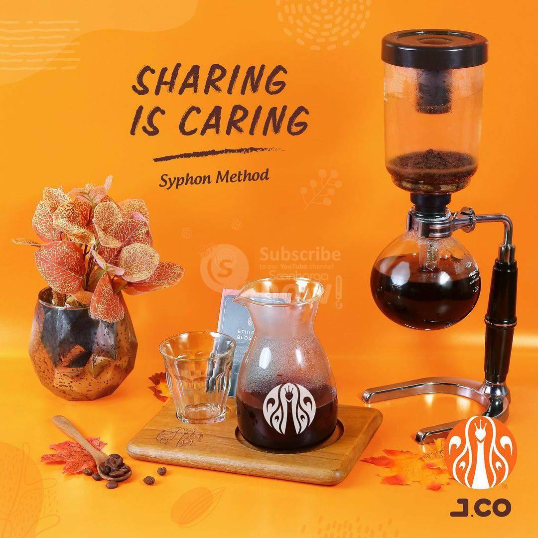 JCO Sharing Is Caring! Promo Buy 1 Get 1 Free Manual Brew Syphon Method