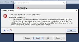 Cara Mengatasi SQL Server Management Studio Kosong