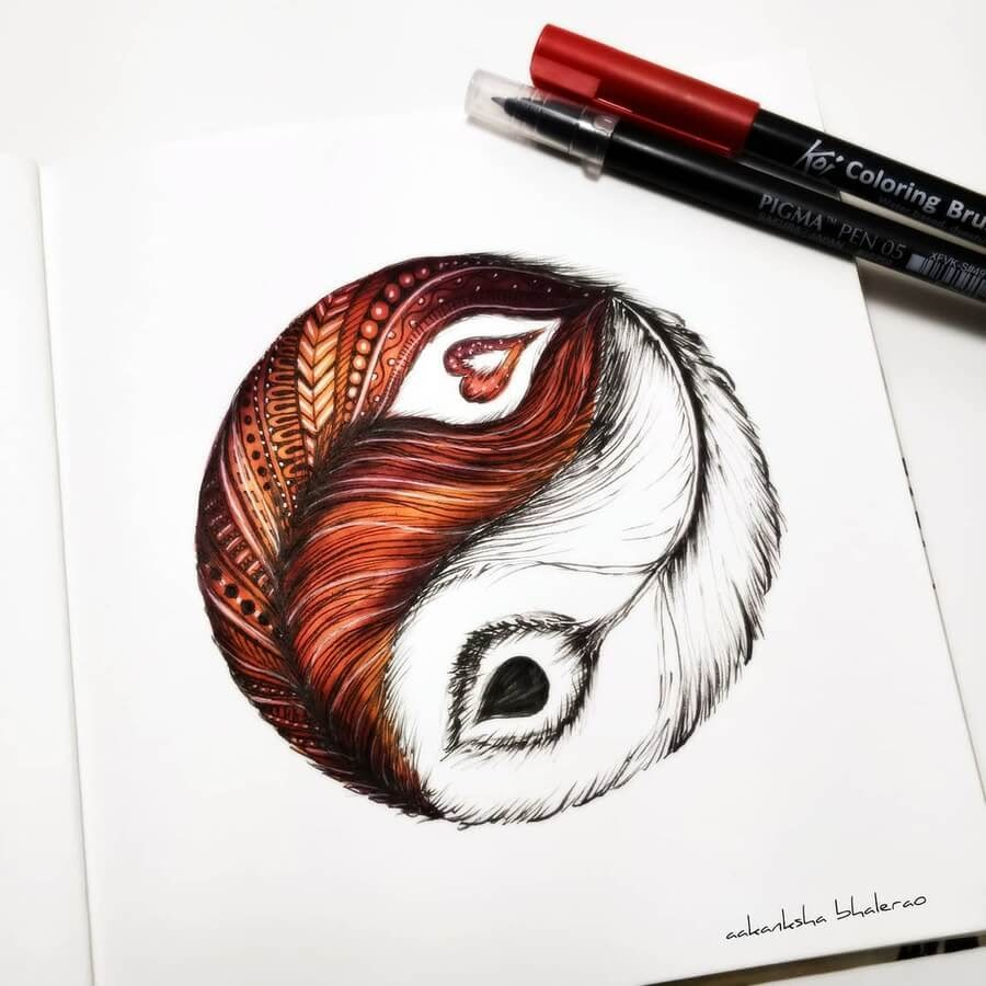 06-Yin-and-Yang-feathers-Aakanksha-Bhalerao-www-designstack-co