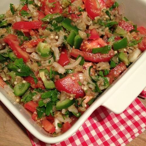 Patlıcan Salatası ~ türkischer Auberginen-Salat mit Köfte