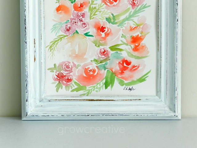 "Original Watercolor Flower Painting: ""Peaches and Pink"" by Elise Engh"