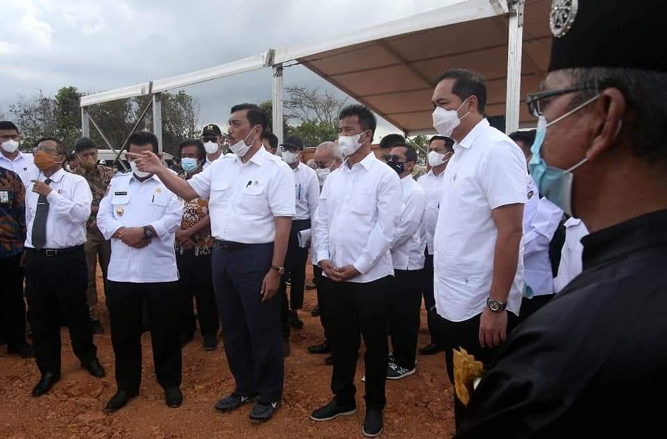 Walikota Batam Bersama Gubernur Kepri Dampingi Menko Marves Tinjau Jembatan Batam-Bintan