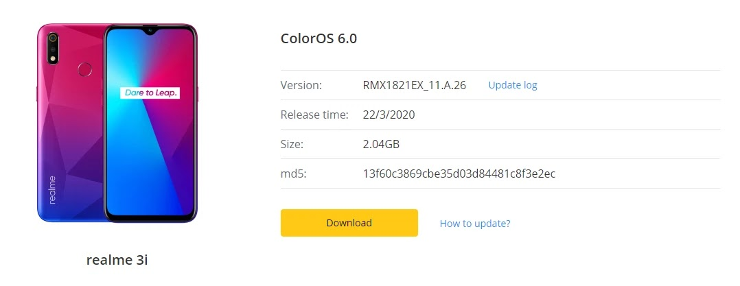 Realme 3i March 2020 Security Patch Update Adds  WiFi Calling  (VoWiFi) Feature & Much More [RMX1821EX_11.A.26] - Realme Updates