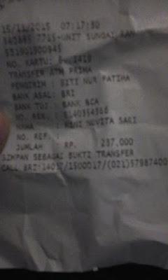 Bukti Asli Transaksi Penjualan Frutablend Surabaya