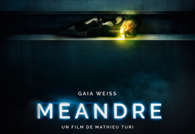 póster de Meandre, terror francés