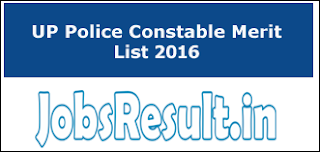 UP Police Constable Merit List 2016