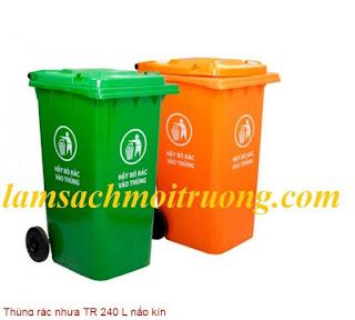 Cung cấp thùng rác nhựa HDPE, thùng rác 240 lít, thùng rác nhựa công nghiệp giá rẻ