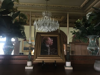 An image of John-Roger hangs in the parlor of the Movement of Spiritual Inner Awareness. (photo by Sophia Kercher for LAist