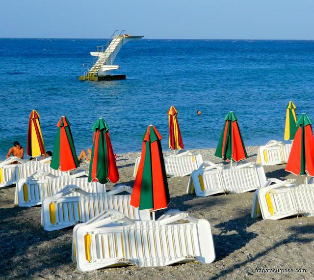 Praia na Cidade de Rodes, Grécia