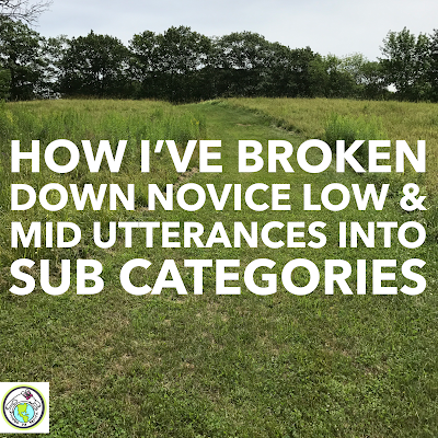 Breakdown of Novice Low & Mid Utterances into Sub Categories