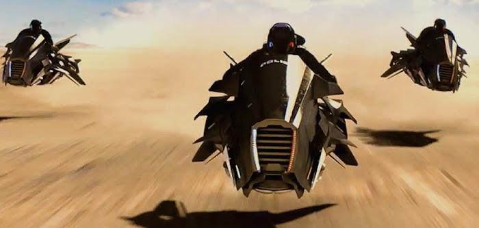 Poliţia din filmul scurt sci-fi Runaway