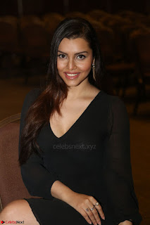 Kyra Dutta in black At Rogue Movie Audio Launch ~  015.JPG