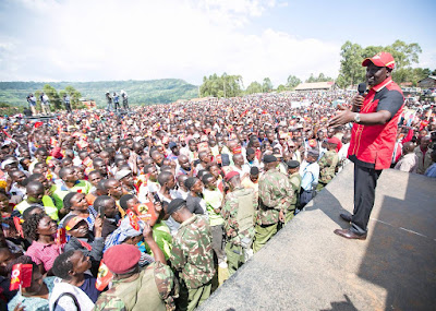 DP Ruto in Kericho. PHOTO | FILE