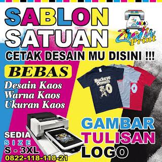 cetak sablon kaos bendera satuan Banyumanik Semarang
