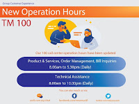 TM 100's LATEST Operating Hours 2019