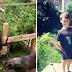Desde os 6 anos, menino cultiva horta no quintal para ajudar crianças com fome