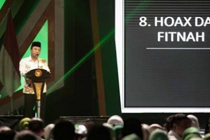 Rommy di Depan Jokowi: Lebih Baik Kita Kalah Terhormat daripada Menang dengan Hoax