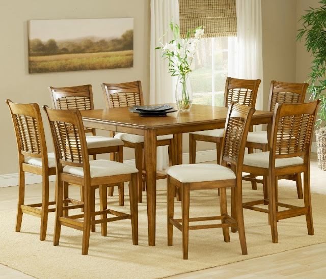 Square Dining Table for 8 Size Leafs from Wood