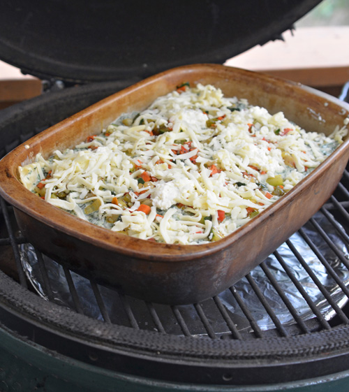How to cook lasagna on a kamado grill such as kamado joe, big green egg or primo