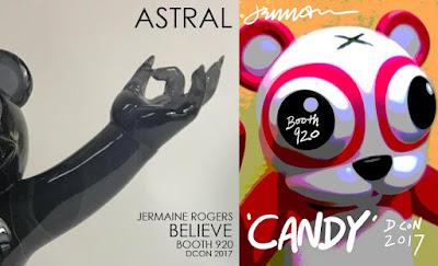 Jermaine Rogers' Designer Con 2017 Exclusive Vinyl & Resin Figures